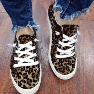Shoes - RESTOCK - SHANNON Leopard Print Sneakers